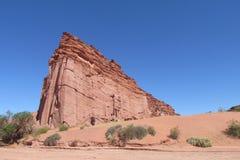 Formations de roche rouges de Talampaya Photo stock