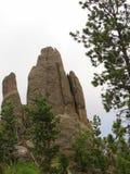 Formations de roche, route d'aiguilles, le Dakota du Sud photographie stock