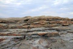 Formations de roche de Senjojiki photo libre de droits