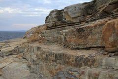 Formations de roche de Senjojiki photo stock