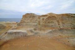 Formations de roche de Senjojiki image libre de droits