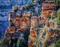 Formations de roche sur la jante du sud Image stock