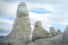 Formations de roche de Trollholmsund dans Finnmark, Norvège images stock