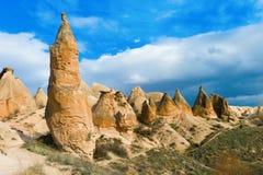 Formations de roche uniques dans Cappadocia Photographie stock