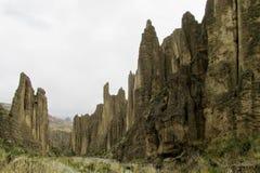 Formations de roche Valle de las Animas près photos stock