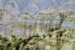 Formations de roche Valle de las Animas près de La Paz en Bolivie photographie stock libre de droits