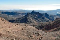 Formations de roche volcanique chez le mont Kenya photos stock