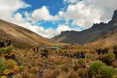 Formations de roche volcanique chez le mont Kenya image stock