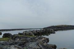 Formations de roche volcanique, Jeju, Sounth Corée Photographie stock libre de droits