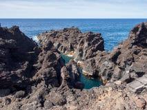 Formations de roche volcanique sur Pico Island, Açores photographie stock