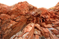Formations de roche volcaniques de basalte Photo stock