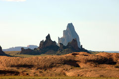Formations de Shiprock Images libres de droits