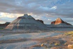 Formations de tepee de forêt Petrified - Arizona images stock
