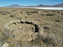 Formations de tuf dans le désert du Nevada photo libre de droits