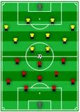Formations du football Photographie stock libre de droits