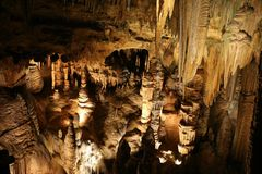 Formations en Luray Caverns Virginia photos stock