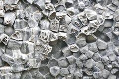 Formations en pierre hexagonales en vall?e de Vesturdalur en Islande du nord image stock