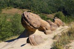 Formations en pierre spectaculaires à partir d'Ulmet, Roumanie Photographie stock