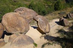 Formations en pierre spectaculaires à partir d'Ulmet, Roumanie Photos libres de droits