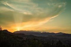 Formations et coucher de soleil de nuage image libre de droits