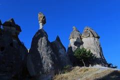 Formations géologiques dans Cappadocia photographie stock libre de droits