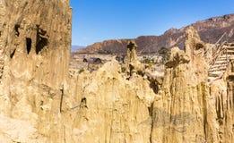 Formations géologiques de vallée de lune de Bizzare, falaises lunaires BO de forme photo libre de droits