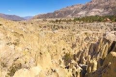 Formations géologiques de vallée de lune de Bizzare, falaises lunaires BO de forme photographie stock libre de droits