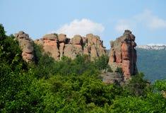 Formations géologiques des tours de roche Photographie stock