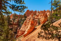 Formations géologiques en Bryce Canyon National Park Photo stock