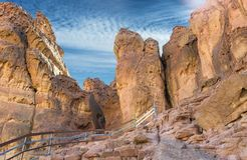 Formations géologiques en stationnement de Timna, Israël photo stock
