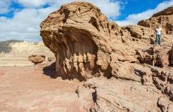 Formations géologiques en stationnement de Timna, Israël photographie stock