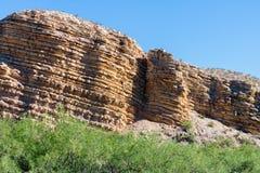 Formations géologiques sur Rio Grande River Image stock