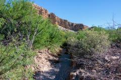Formations géologiques sur Rio Grande River Images libres de droits