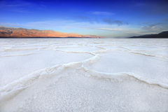 Formations In Death Valley California At Bad Water Stock Photos
