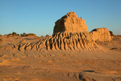 Formations at Lake Mungo. Formations in the Walls of China, Lake Mungo, Australia Royalty Free Stock Image
