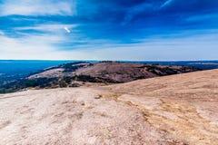 Formations massives de granit de roche enchantée, le Texas photographie stock