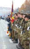 12/01/2018 - Formations militaires célébrant le jour national roumain dans Timisoara, Roumanie images stock