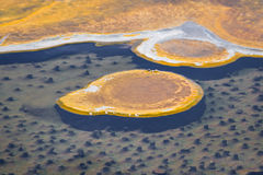 Formations minérales dans yellowstone Photographie stock libre de droits
