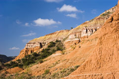 Formations in Palo Duro Canyon. Sandstone formations in Palo Duro Canyon State Park in Texas Stock Photography