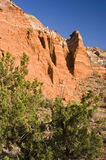 Formations in Palo Duro Canyon Stock Image