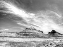 Formations in Petrified Forest National Park Stock Photography