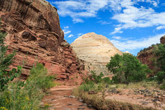 Formations and Rocks at Capitol Reef National Park Utah USA Stock Image