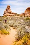 Formations scéniques de grès des voûtes parc national, Utah, Etats-Unis Photographie stock libre de droits