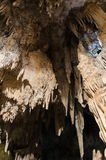 Formations; Stalactites and stalagmites in the famous Nerja Caves Stock Image