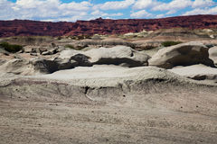 Formations of stones in Ischigualasto Park Royalty Free Stock Photos