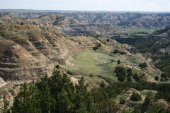 Formations, Theodore Roosevelt National Park. Colorful formations of Theodore Roosevelt National Park, North Dakota stock images