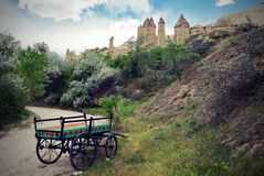 Formations volcaniques Cappadocia - en Turquie Image libre de droits