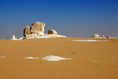 Formations in the White desert, Sahara, Egypt Royalty Free Stock Images