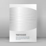 Formato abstracto A4 03 del folleto de la página del fondo Imagen de archivo libre de regalías