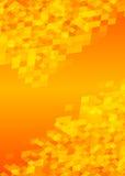 Formato amarillo caliente A4 de la revista de la página de la disposición del folleto del fondo Imagen de archivo libre de regalías